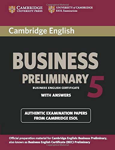 9781107631953: Cambridge English Business 5 Preliminary Student's Book with Answers (BEC Practice Tests)