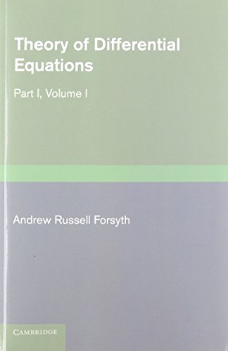 Theory of Differential Equations 6 Volume Set (Paperback): Andrew Russell Forsyth