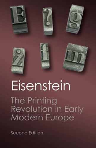 9781107632752: The Printing Revolution in Early Modern Europe (Canto Classics)