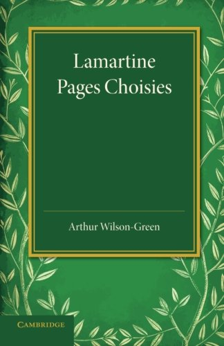 9781107635166: Lamartine: Pages Choisies