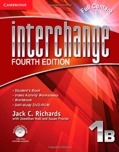 9781107637801: Interchange Level 1 Full Contact B with Self-study DVD-ROM (Interchange Fourth Edition)