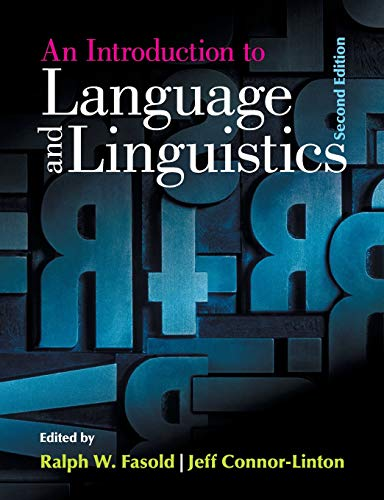 9781107637993: An Introduction to Language and Linguistics