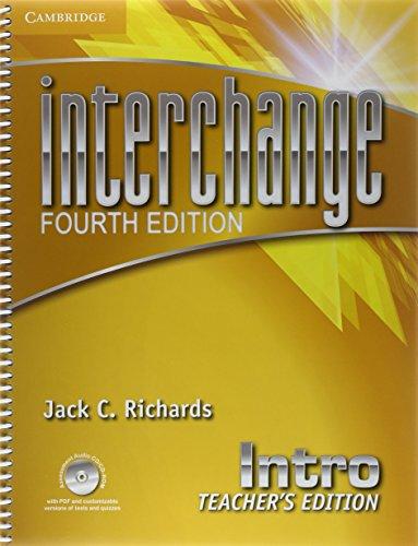 9781107640115: Interchange Intro Teacher's Edition with Assessment Audio CD/CD-ROM (Interchange Fourth Edition)