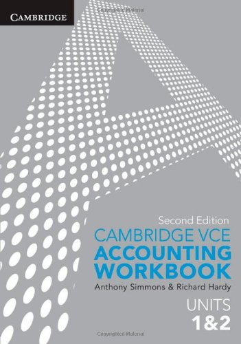Cambridge VCE Accounting Units 1&2 Workbook (Paperback): Anthony Simmons
