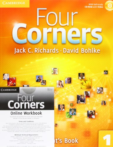9781107641747: Four Corners Level 1 Student's Book with Self-study CD-ROM and Online Workbook Pack