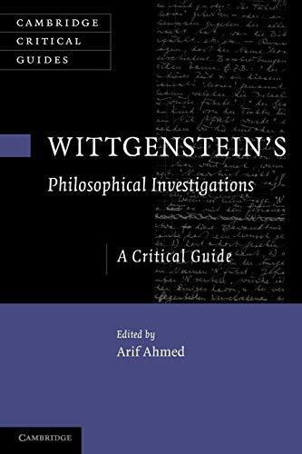 Wittgenstein's Philosophical Investigations: Ahmed, Arif