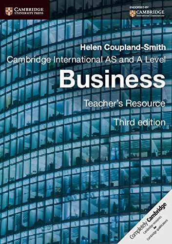 Cambridge International AS and A Level Business Teacher's Resource CD-ROM (Cambridge ...