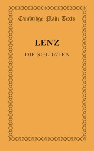 9781107643062: Die Soldaten (Cambridge Plain Texts) (German Edition)