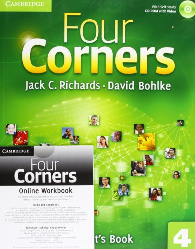9781107644038: Four Corners Level 4 Student's Book with Self-study CD-ROM and Online Workbook Pack