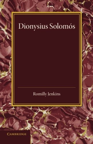 Dionysius Solomos: Romilly Jenkins