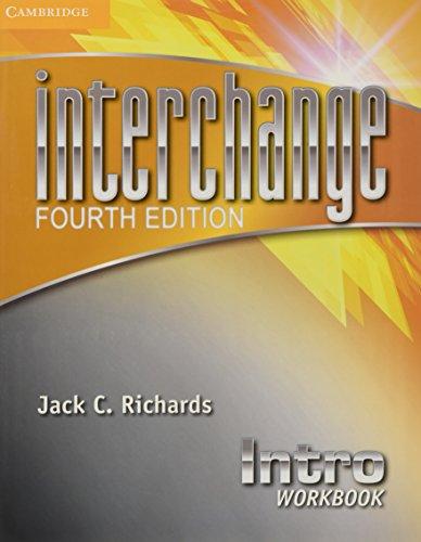 9781107648715: Interchange 4th Intro Workbook (Interchange Fourth Edition)