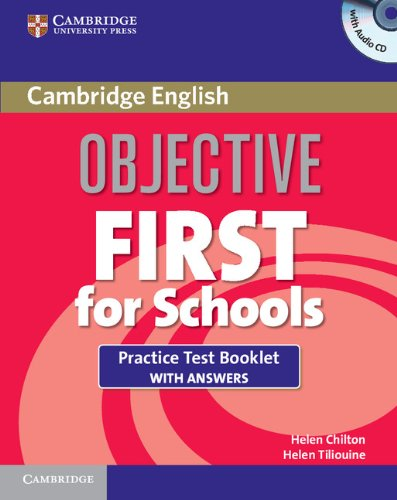 9781107648913: Objective First For Schools Practice Test Booklet with Answers and Audio CD
