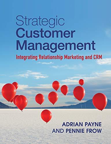 9781107649224: Strategic Customer Management: Integrating Relationship Marketing and CRM