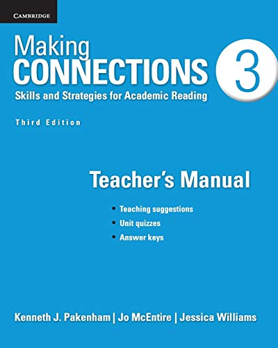 Making Connections Level 3 Teacher's Manual: Skills: Williams, Jessica, McEntire,