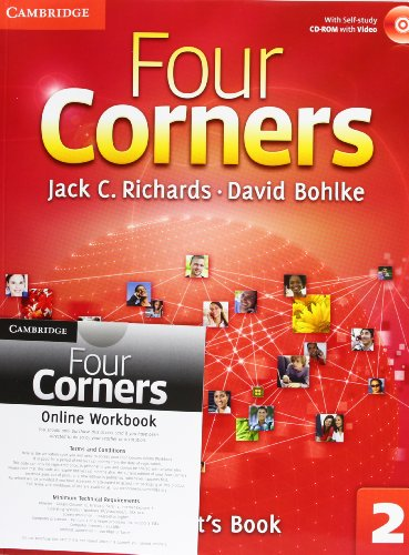 9781107651760: Four Corners Level 2 Student's Book with Self-study CD-ROM and Online Workbook Pack
