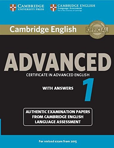 9781107653511: Cambridge English Advanced 1 for Revised Exam from 2015 Student's Book with Answers (CAE Practice Tests)