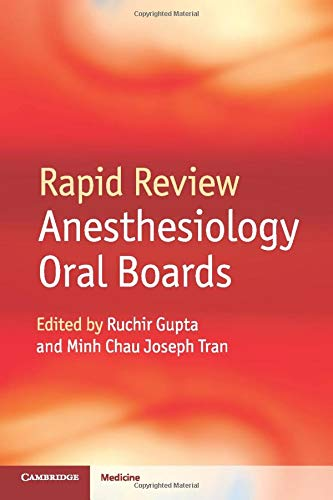 9781107653665: Rapid Review Anesthesiology Oral Boards
