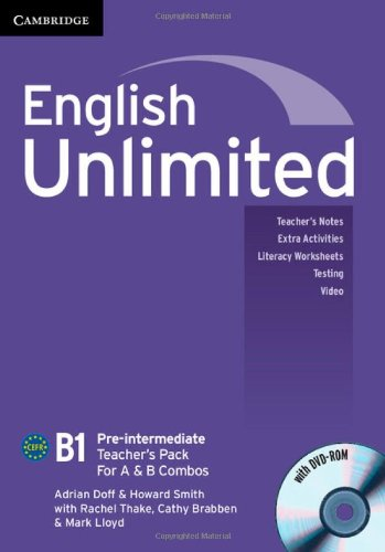 9781107654532: English Unlimited Pre-intermediate A and B Teacher's Pack (Teacher's Book with DVD-ROM)