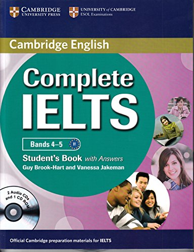 9781107654877: Complete IELTS Bands 4-5: Students Book with Answers (PB + 2 ACDs + 1 CD-ROM)