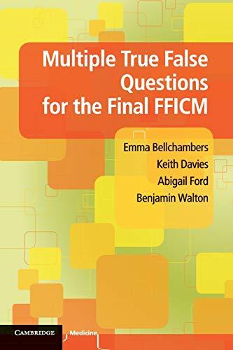 9781107655317: Multiple True False Questions for the Final Fficm