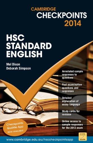 Cambridge Checkpoints HSC Standard English 2014: Melpomene Dixon