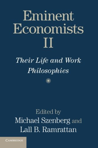 9781107656369: Eminent Economists II: Their Life and Work Philosophies