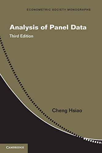 9781107657632: Analysis of Panel Data (Econometric Society Monographs)