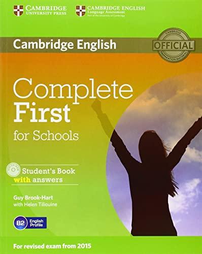 9781107661592: Complete first for schools. Student's book with answers. Per le Scuole superiori. Con CD-ROM. Con espansione online