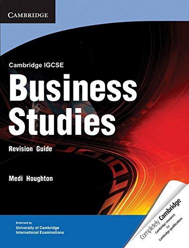 9781107661622: Cambridge IGCSE Business Studies Revision Guide (Cambridge International IGCSE)