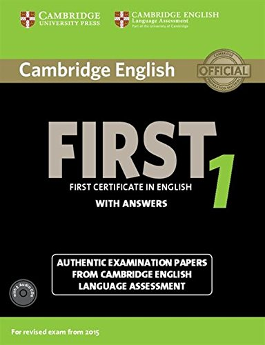 9781107663312: Cambridge English First 1 for Revised Exam from 2015 Student's Book Pack (Student's Book with Answers and Audio CDs (2)) (FCE Practice Tests)