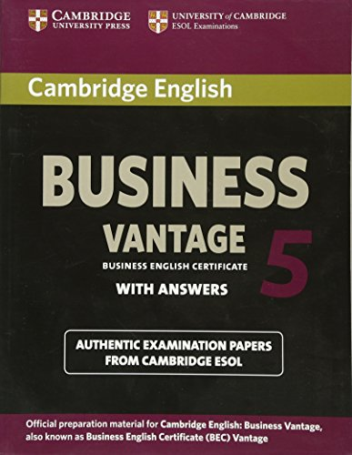 9781107664654: Cambridge English business vantage Level 5. Student's book with answers. Esol