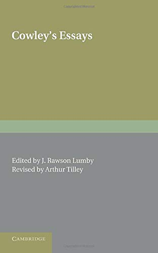 9781107665279: Cowley's Essays
