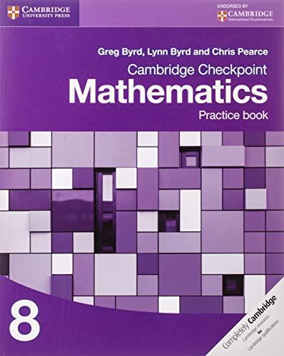 9781107665996: Cambridge Checkpoint Mathematics Practice Book 8 (Cambridge International Examinations)