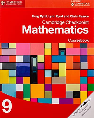 9781107668010: Cambridge Checkpoint Mathematics Coursebook 9 (Cambridge International Examinations)