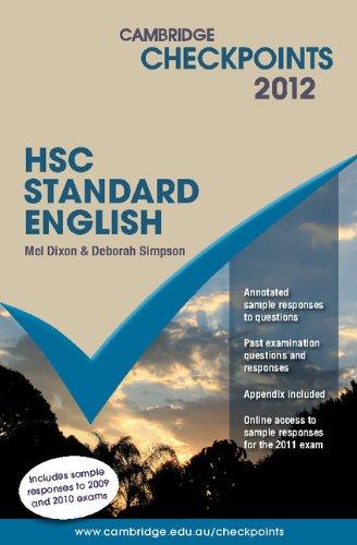 Cambridge Checkpoints HSC Standard English 2012: Melpomene Dixon