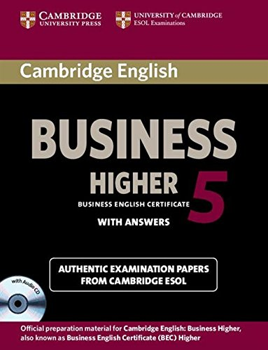 9781107669178: Cambridge English Business 5 Higher Self-study Pack (Student's Book with Answers and Audio CD) (BEC Practice Tests)