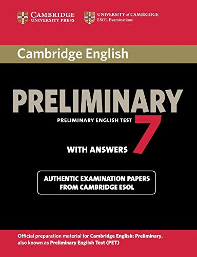 9781107675193: Cambridge English Preliminary 7 Student's Book with Answers (PET Practice Tests)