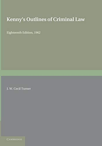 Kenny s Outlines of Criminal Law (Paperback): J. W. Cecil