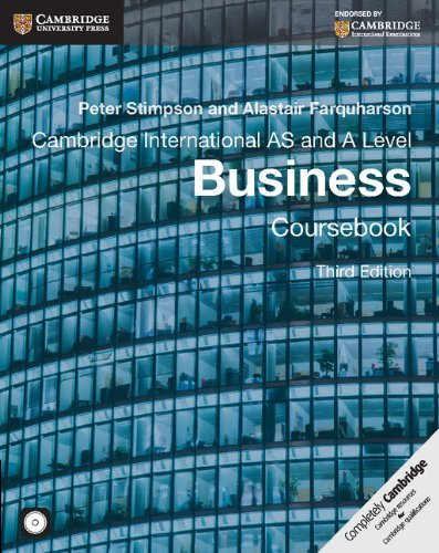 Cambridge International As and a Level Business Coursebook With Cd-rom (Book & Merchandise): ...