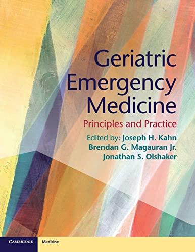 9781107677647: Geriatric Emergency Medicine: Principles and Practice