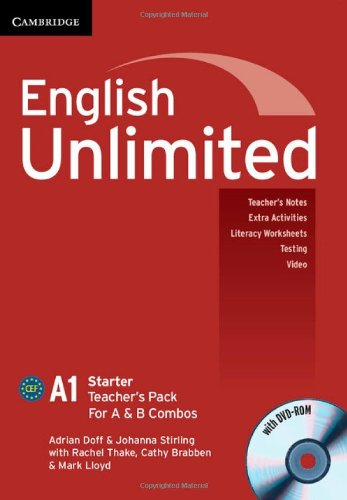 9781107679108: English Unlimited Starter A and B Teacher's Pack (Teacher's Book with DVD-ROM)