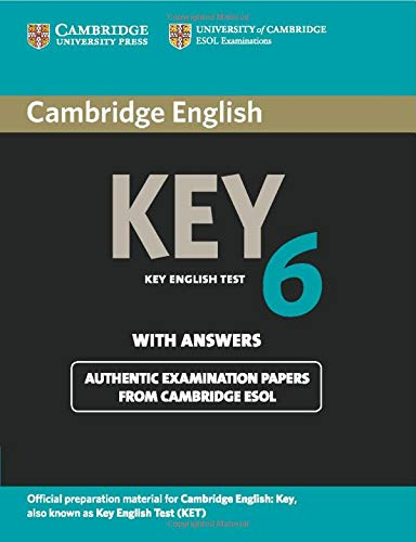9781107679719: Cambridge English Key 6 Student's Book with Answers (KET Practice Tests)