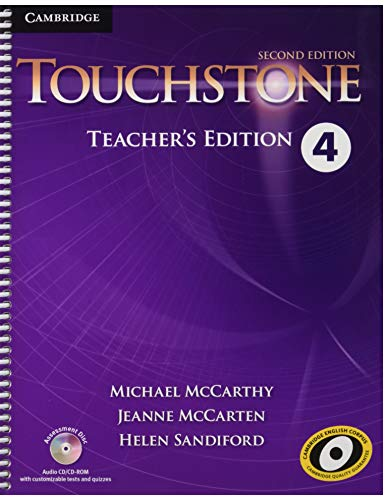 9781107681514: Touchstone Level 4 Teacher's Edition with Assessment Audio CD/CD-ROM