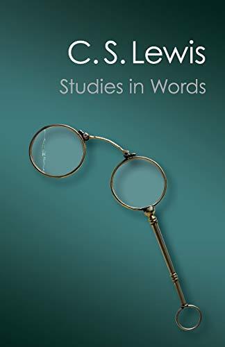 9781107688650: Studies in Words (Canto Classics)