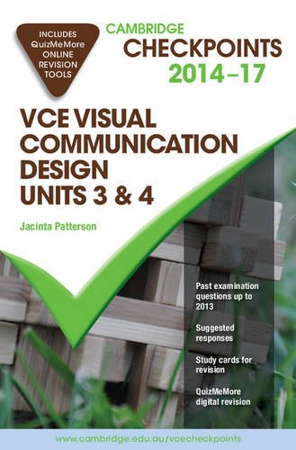 Cambridge Checkpoints VCE Visual Communication Design Units 3 and 4 2014-17 and Quiz Me More (Book ...