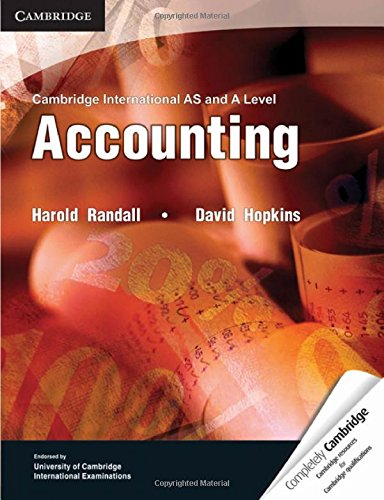 Cambridge International AS and A Level Accounting: Randall, Harold; Hopkins,