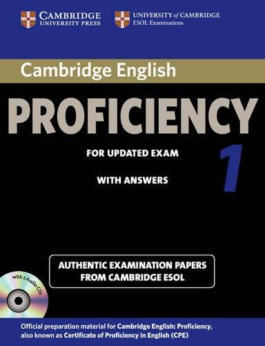 9781107691643: Cambridge English Proficiency 1 for Updated Exam Self-study Pack (Student's Book with Answers and Audio CDs (2)) (CPE Practice Tests)