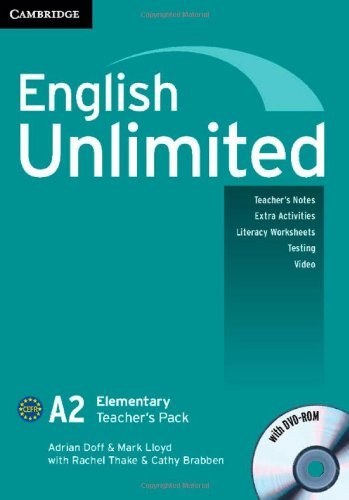 9781107691834: English Unlimited Elementary A and B Teacher's Pack (Teacher's Book with DVD-ROM)