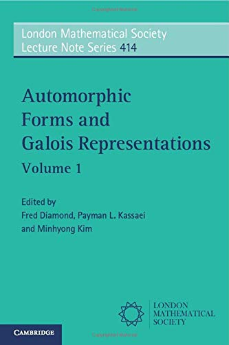9781107691926: Automorphic Forms and Galois Representations: Volume 1 (London Mathematical Society Lecture Note Series)