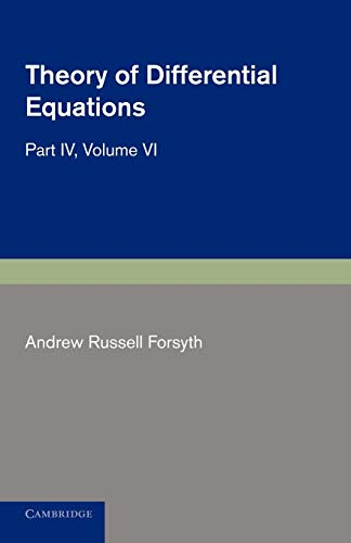 9781107692749: Theory of Differential Equations: Partial Differential Equations (Theory of Differential Equations 6 Volume Set) (Volume 6)